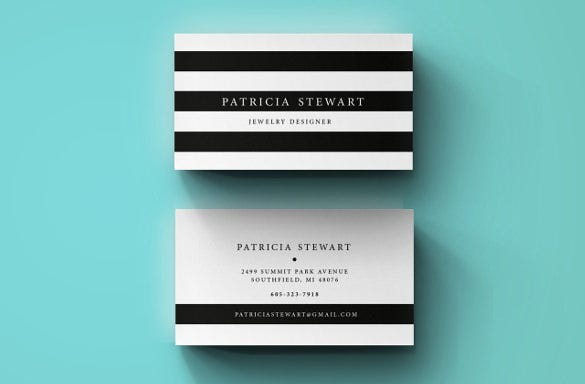 unique cool business card psd download