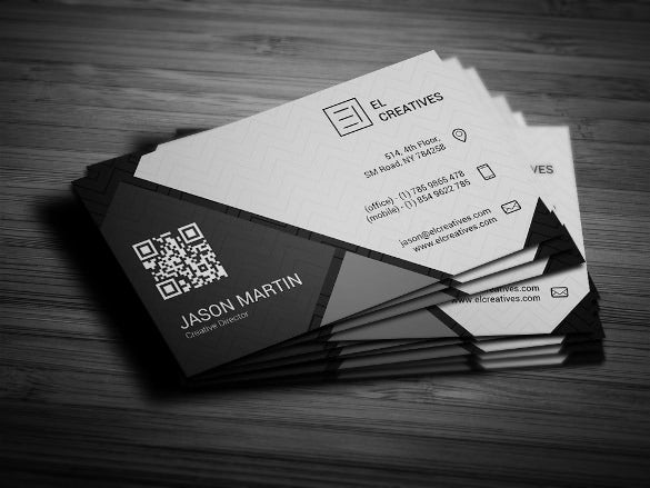dark creative business card download