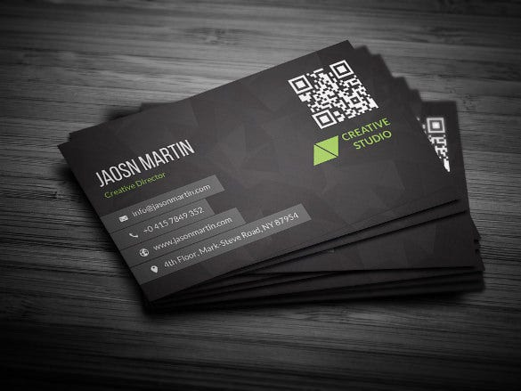 fully editable creative business card