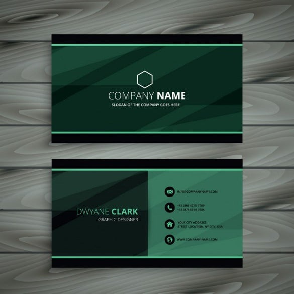 Cool business cards 23 free psd ai vector eps format download green dark business card free vector download reheart Images