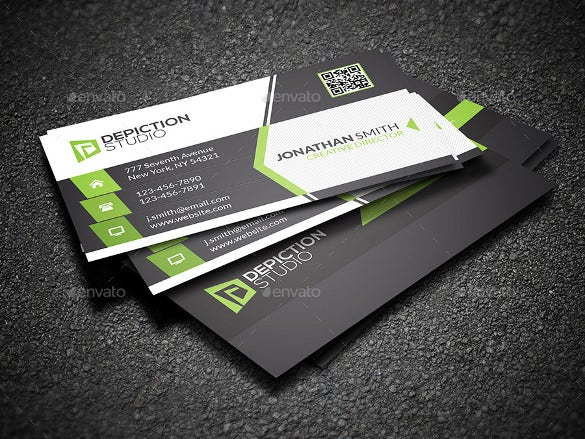 creative cool business card psd download
