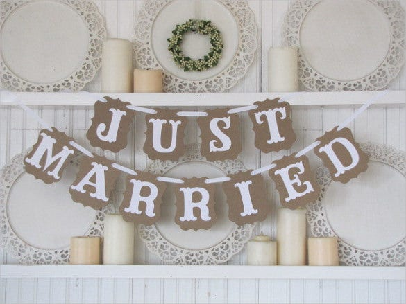 just married wedding banner template for download1