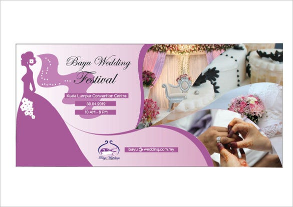 attractive wedding banner design