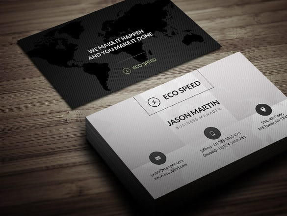 creative world map business card download