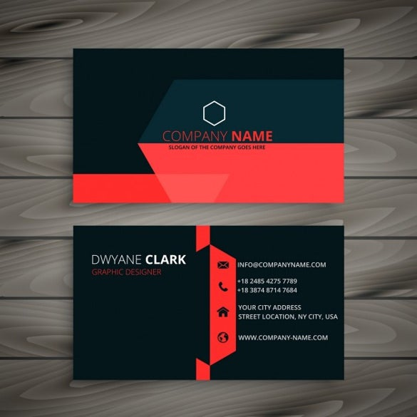 Cool business cards 23 free psd ai vector eps format download modern black business card with red details free vector reheart Gallery