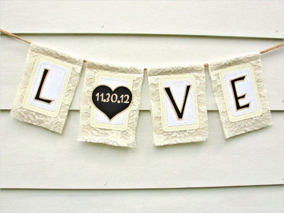 simple love wedding banner design download