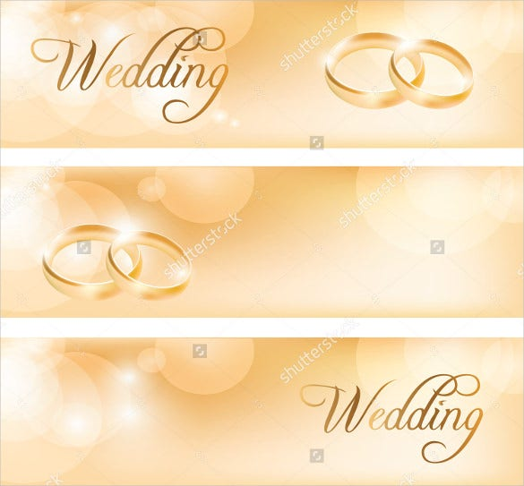 wedding banner design with rings