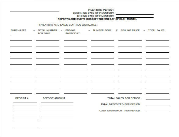 2010 ms word format inventory sheet free template