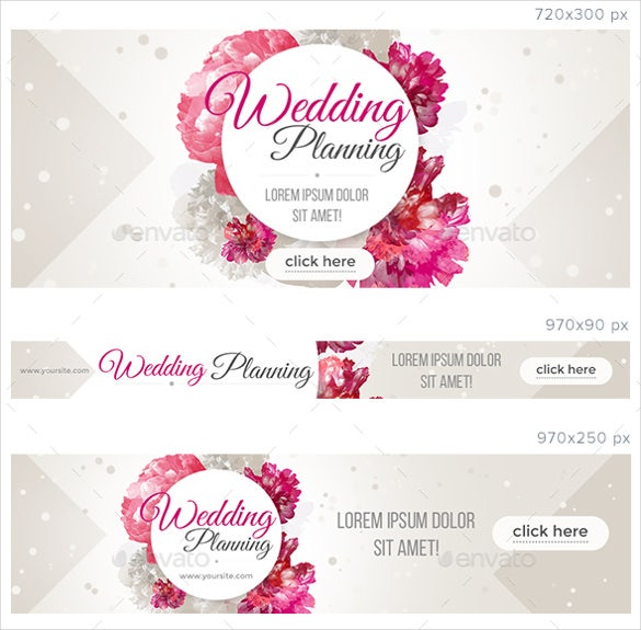 wedding banners in multiple sizes