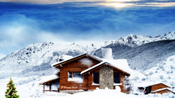 dream house winter wallpaper download