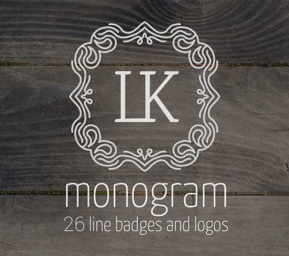 monogram wedding logo design template download