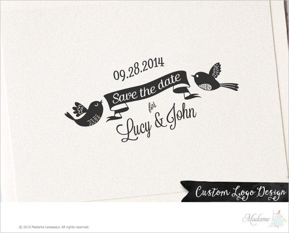custom wedding logo design for download