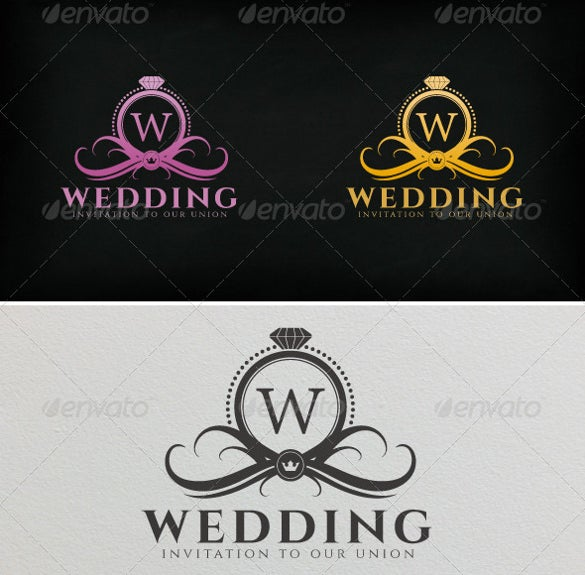 wedding logo vector design template download