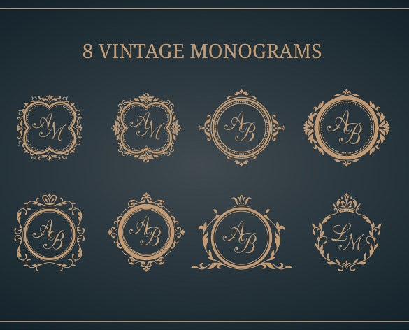 8 luxury wedding logo desing templates for download