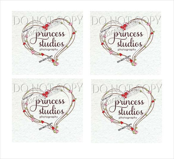 heart wedding logo design for download