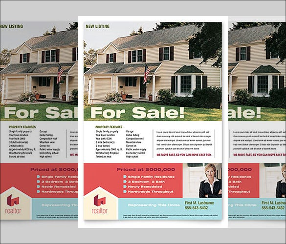 Home Real Estate Flyer Template In Word Format  Home Sale Flyer Template