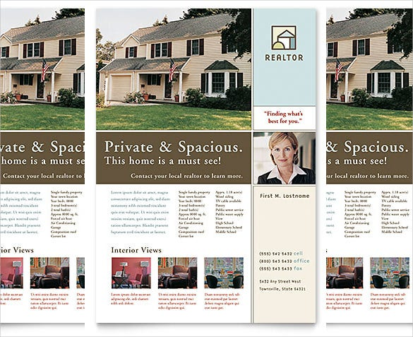 Free Download Real Estate Flyer Template In Microsoft Word - Free real estate for sale flyers templates