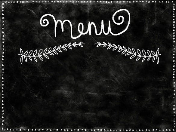 menu chalkboard background