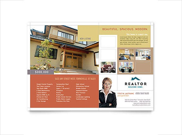 realtor real estate agency flyer template