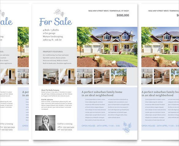 real estate feature sheet template free