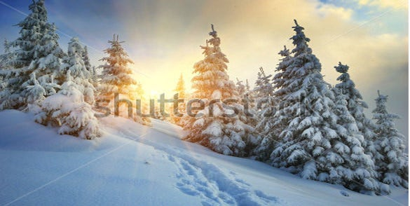 sunrise winter wallpaper download