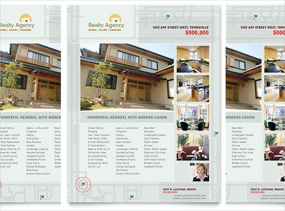 Real Estate Agent U0026 Realtor Flyer Template In Microsoft Word