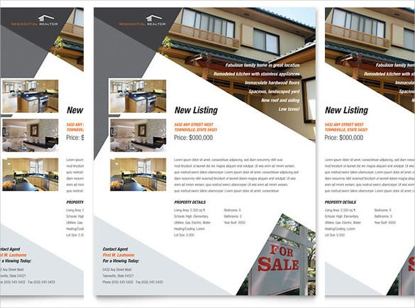 Free Download Real Estate Flyer Template In Microsoft Word - House for sale brochure templates free