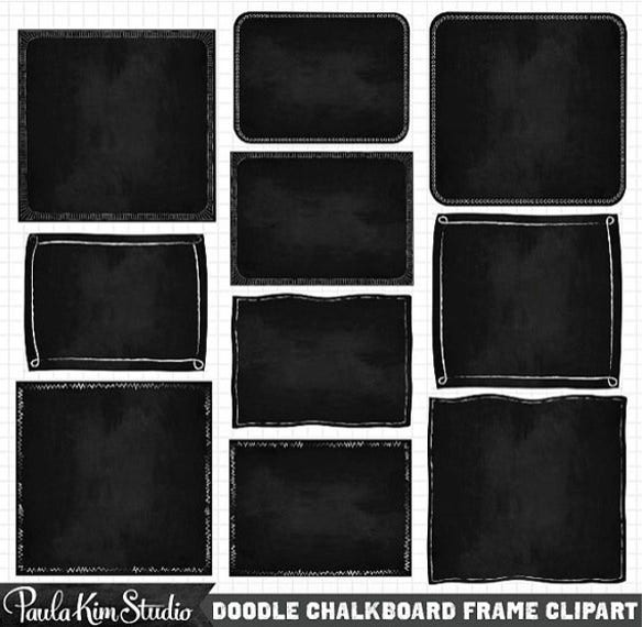 instant chalkboard background borders