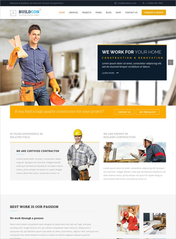 20 business website templates themes free premium free construction business html website template friedricerecipe Choice Image