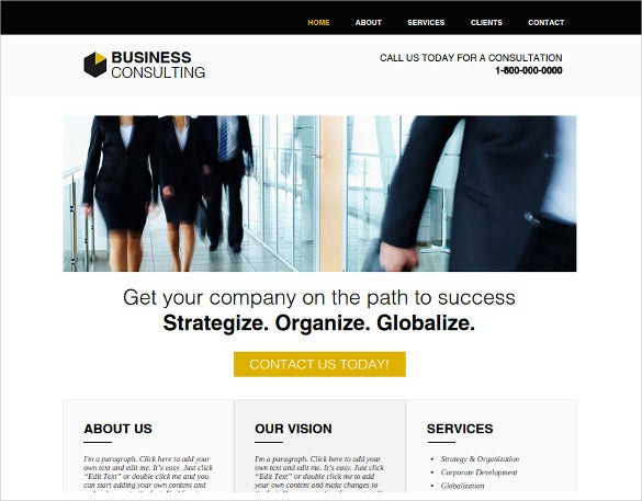 business consulting html website template