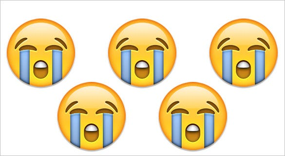 loudly crying face emoji on apple ios