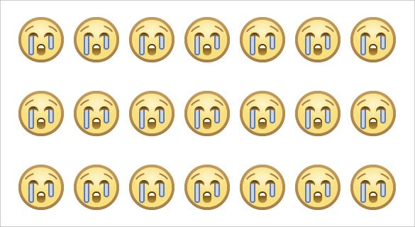 emoji loudly crying face on facebook website