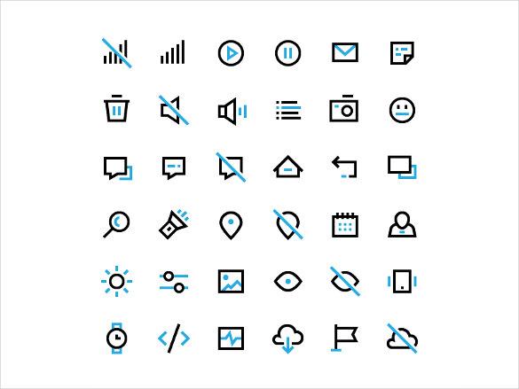 black plain icons bundle