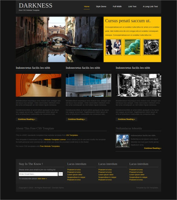 free css artist website template