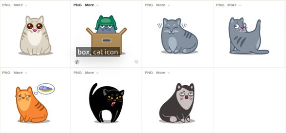 cat icons set download