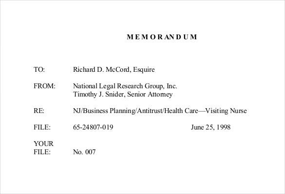Legal Memo Template For Health Care Organization PDF Download  Memo Format On Word