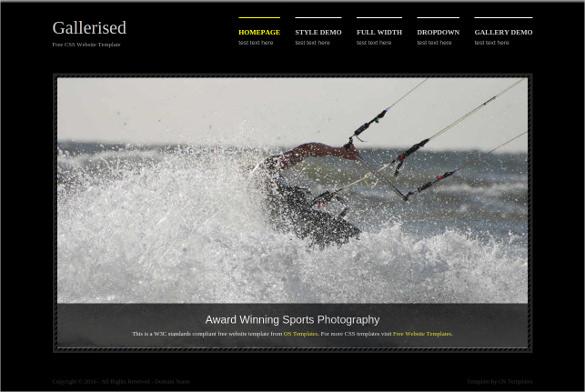 gallerised free css website template
