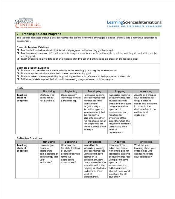 protocol for tracking student progress free pdf format download