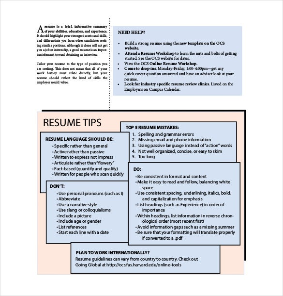 12 Resume Cover Sheet Templates Free Sample Example