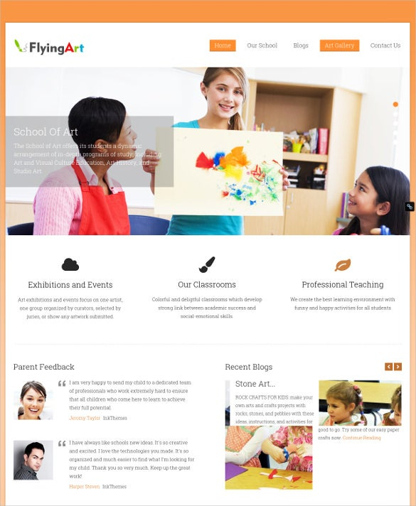 painting artist wordpress website template