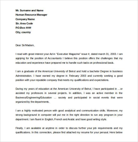 cover letter in arabic - Monza berglauf-verband com