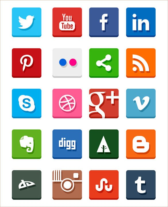 graphical social media icons