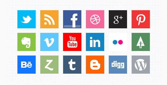 amazing social icons bundle