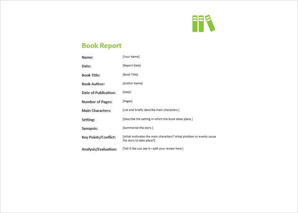 ms word format book report free template
