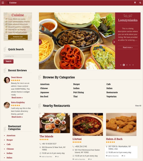 Magnificent Chinese Restaurant Website Template Ideas - Resume Ideas ...