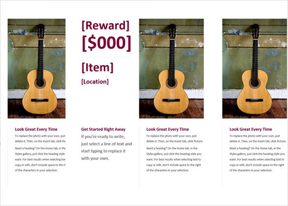 reward flyer