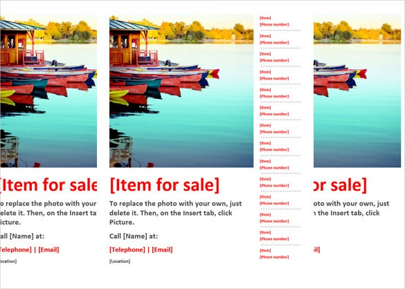 For Sale Flyer Template In Word Download  Download Free Flyer Templates Word