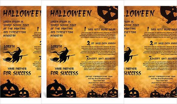 Jack O Lantern Flyer Template Word Format  Microsoft Word Flyer Template Free