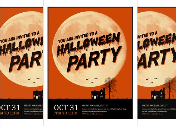 halloween flyer word format download