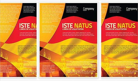 german flag flyer template